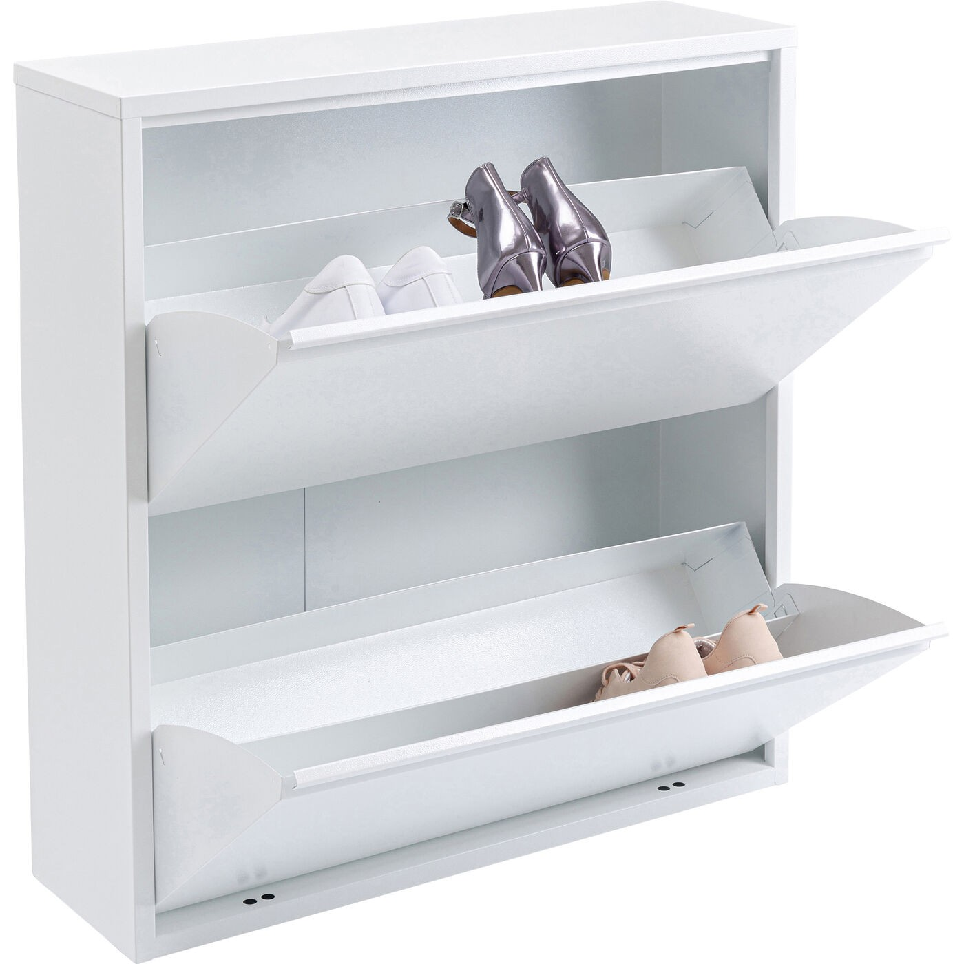 Casier à chaussures Caruso blanc 2 tiroirs Kare Design