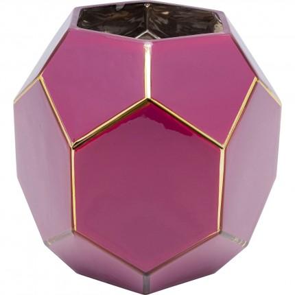 Vase Art rose-violet 22cm Kare Design