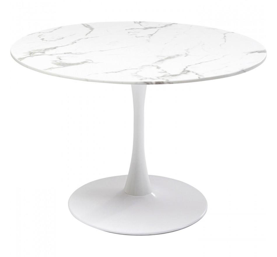 Table Veneto marbre blanc 110cm Kare Design