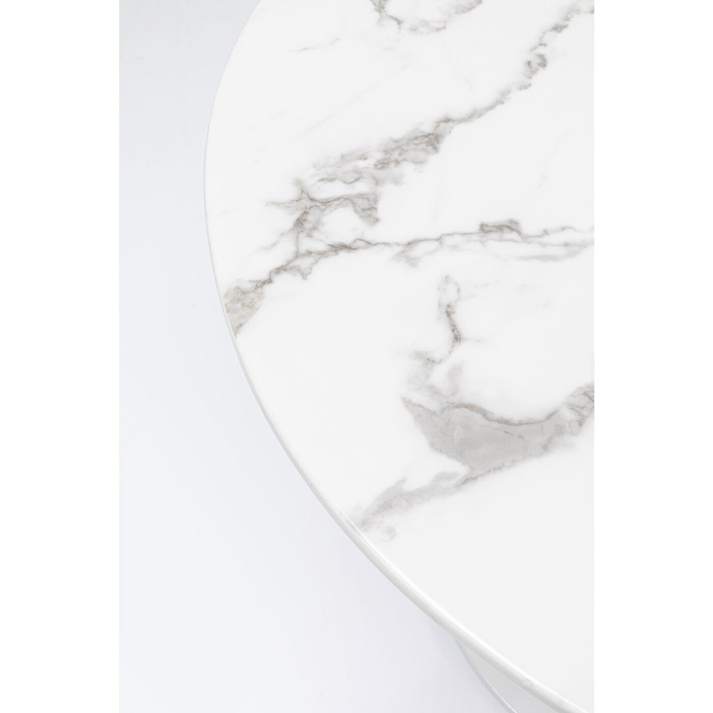 Table Veneto blanche 110cm Kare Design