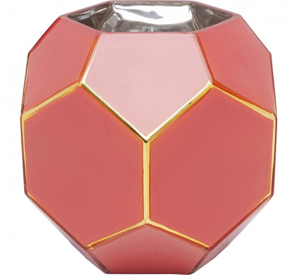 Vase Art Pastel rouge 17cm Kare Design