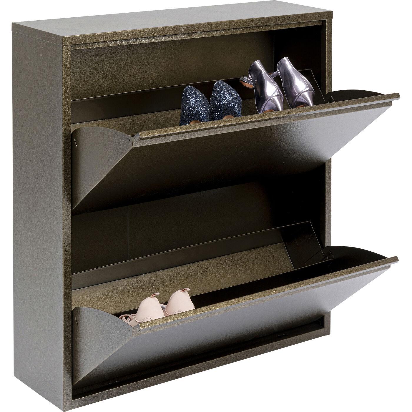 Casier à chaussures Caruso bronze 2 tiroirs Kare Design