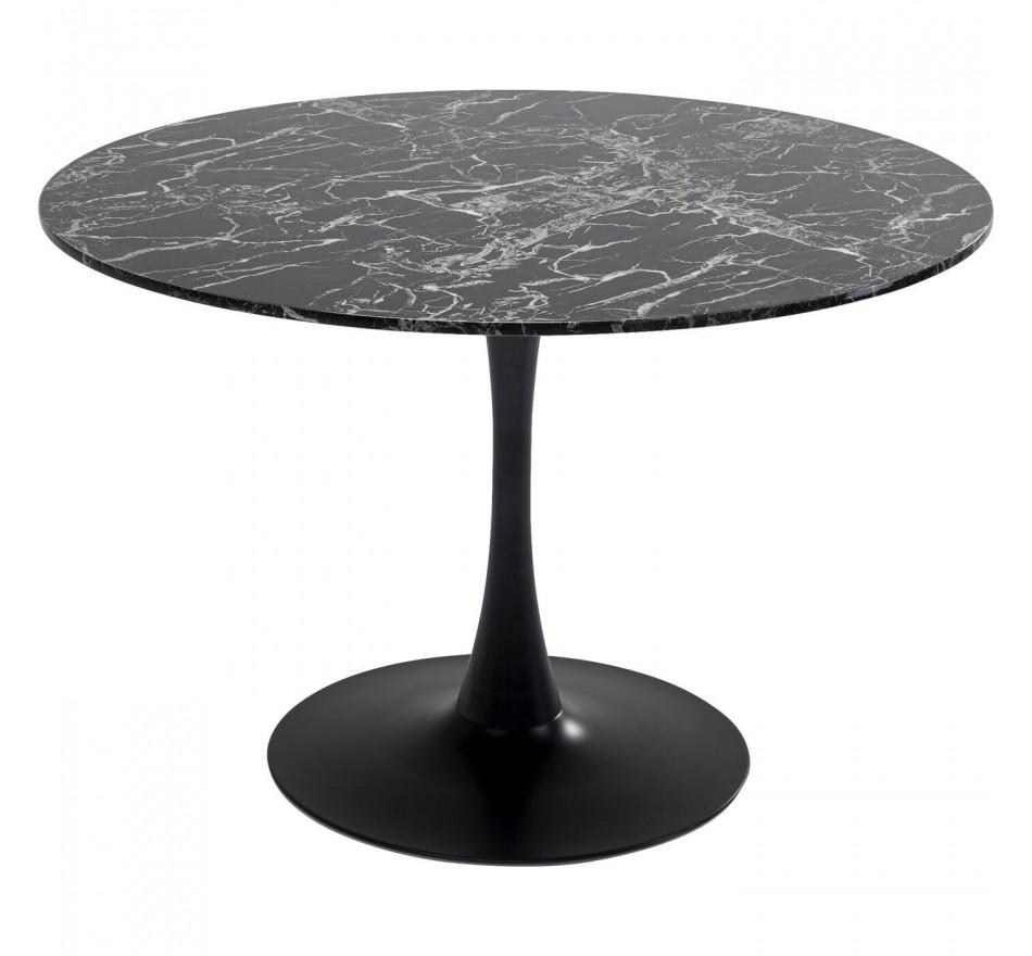 Table Veneto marbre noir 110cm Kare Design