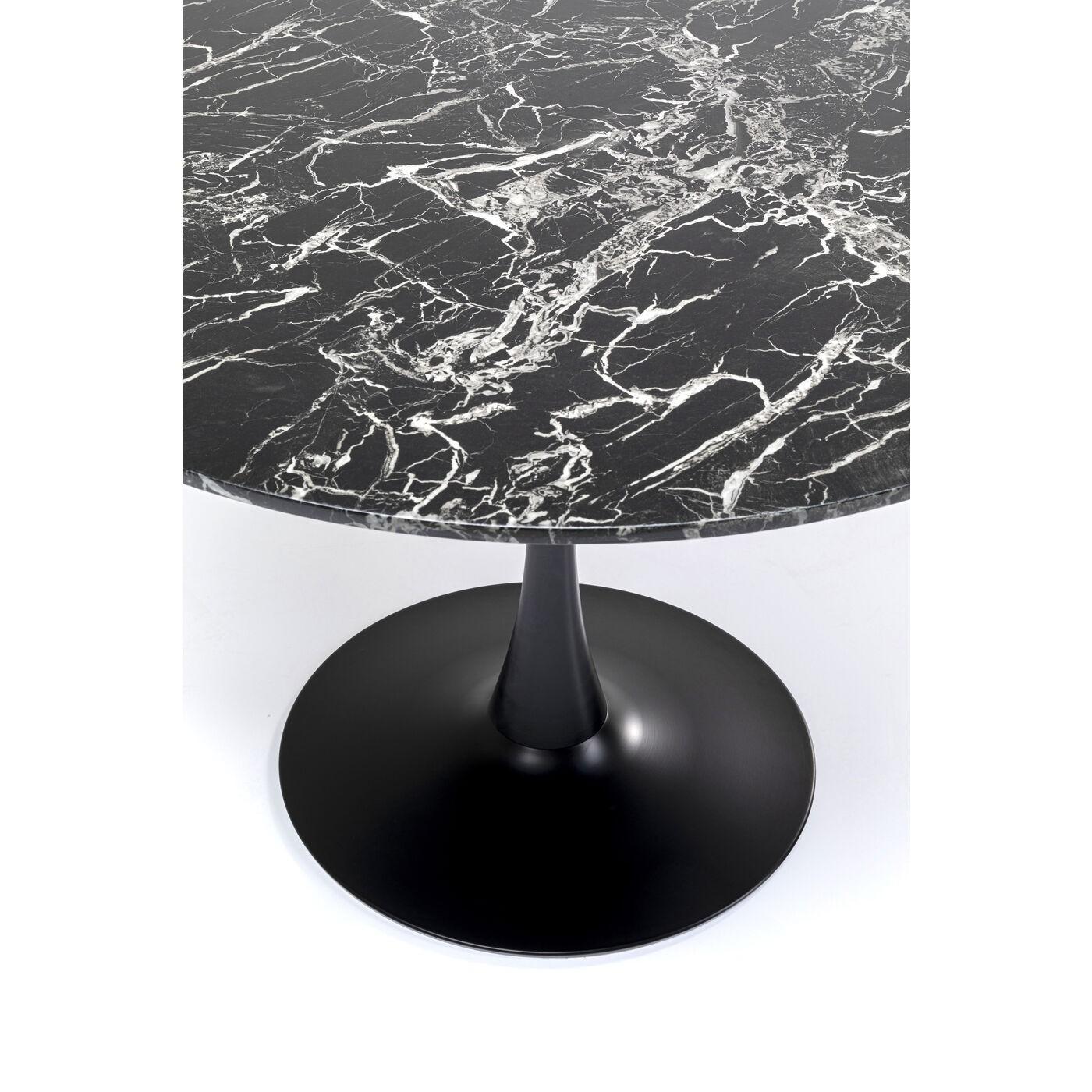 Table Veneto noire 110cm Kare Design