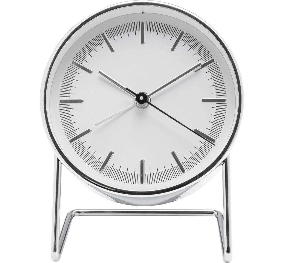Réveil Levin argenté 10x12cm Kare Design
