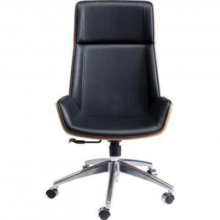 Chaise de bureau pivotante Rouven noire Kare Design
