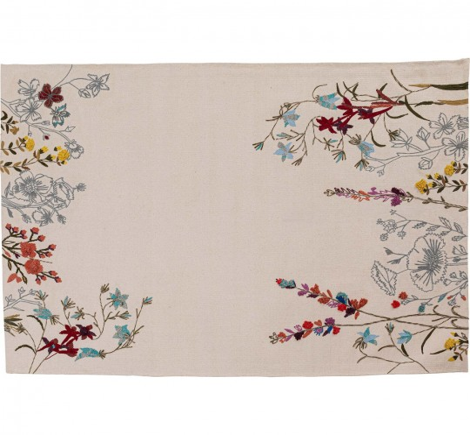 Tapis fleurs sauvages brodées 180x120cm Kare Design