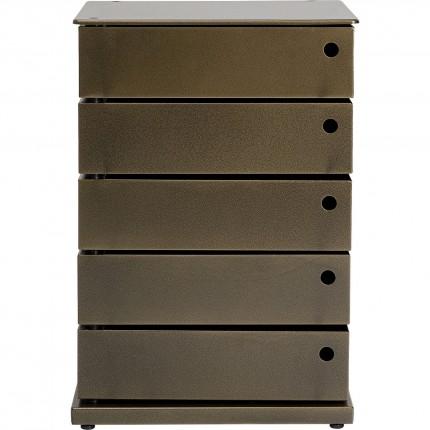 Chiffonnier Manifattura 5 tiroirs bronze 50x72cm Kare Design