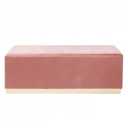 Banc-coffre Cherry rose et laiton 120x40cm Kare Design