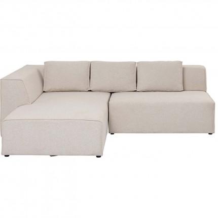 Canapé d'angle Infinity gauche crème sans pouf Kare Design