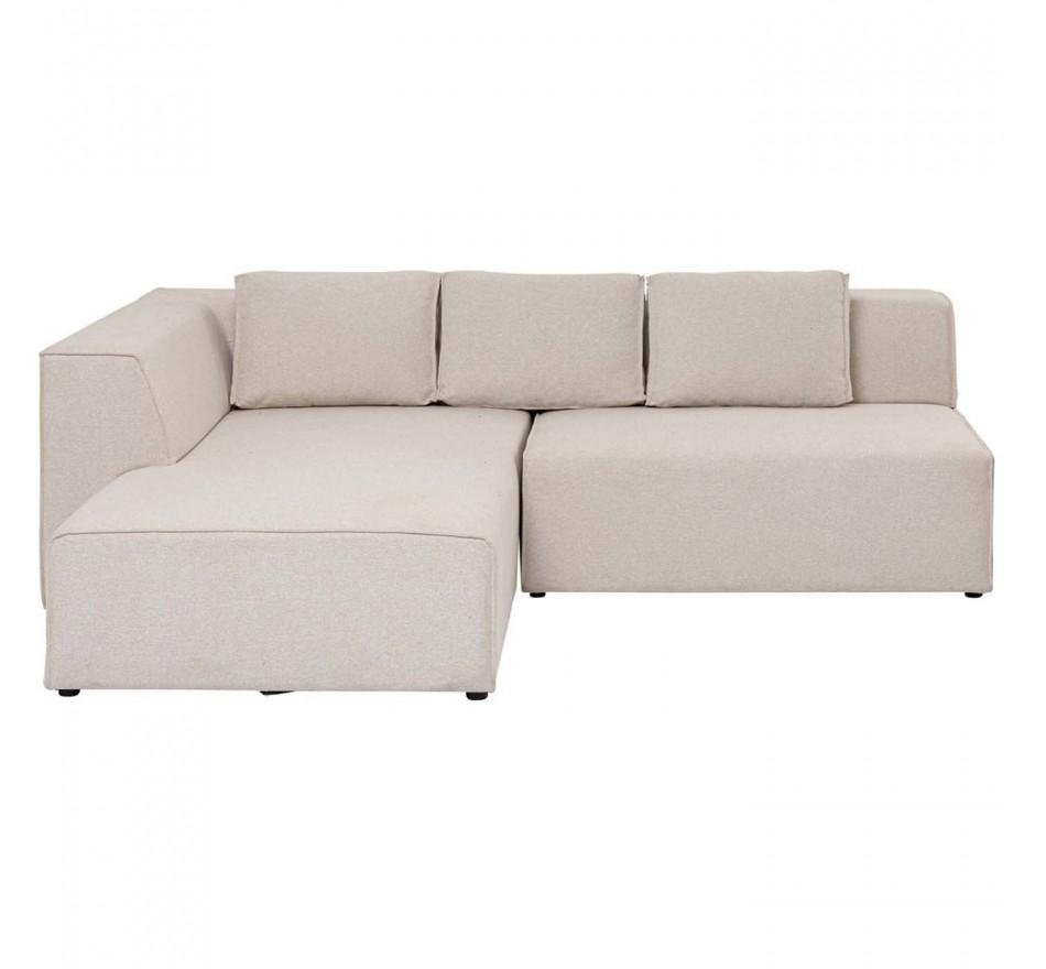 Canapé d'angle Infinity Ottomane gauche crème Kare Design