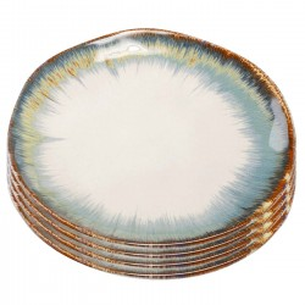 Assiettes Organic blanches 20cm set de 4 Kare Design