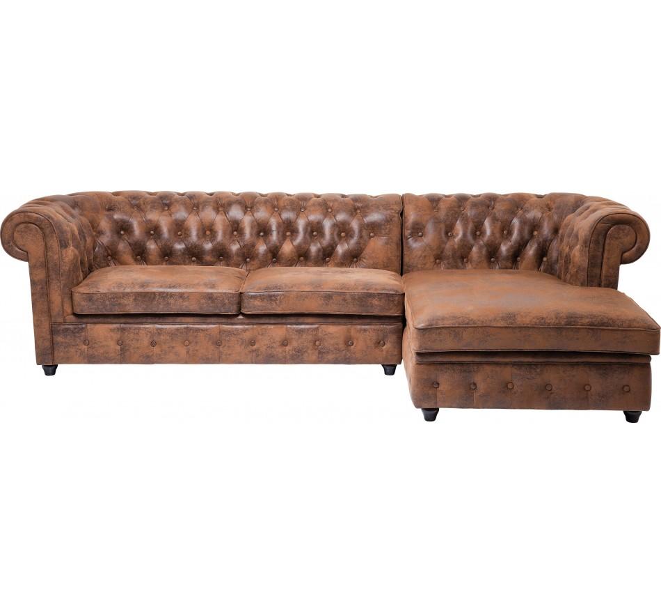 Canapé d'angle Oxford Vintage Droit Kare Design