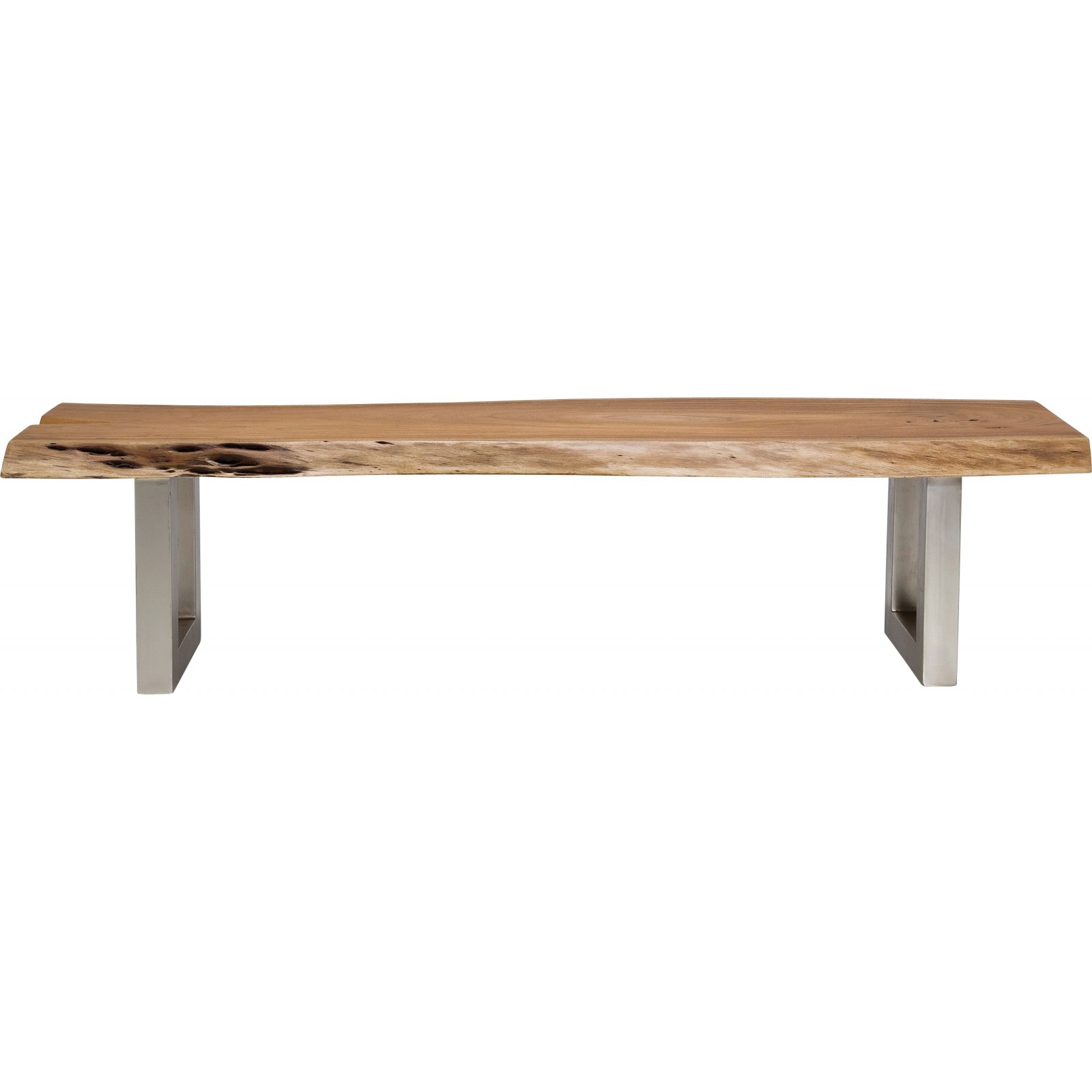 Banc en bois nature line kare design for Banc tv bois