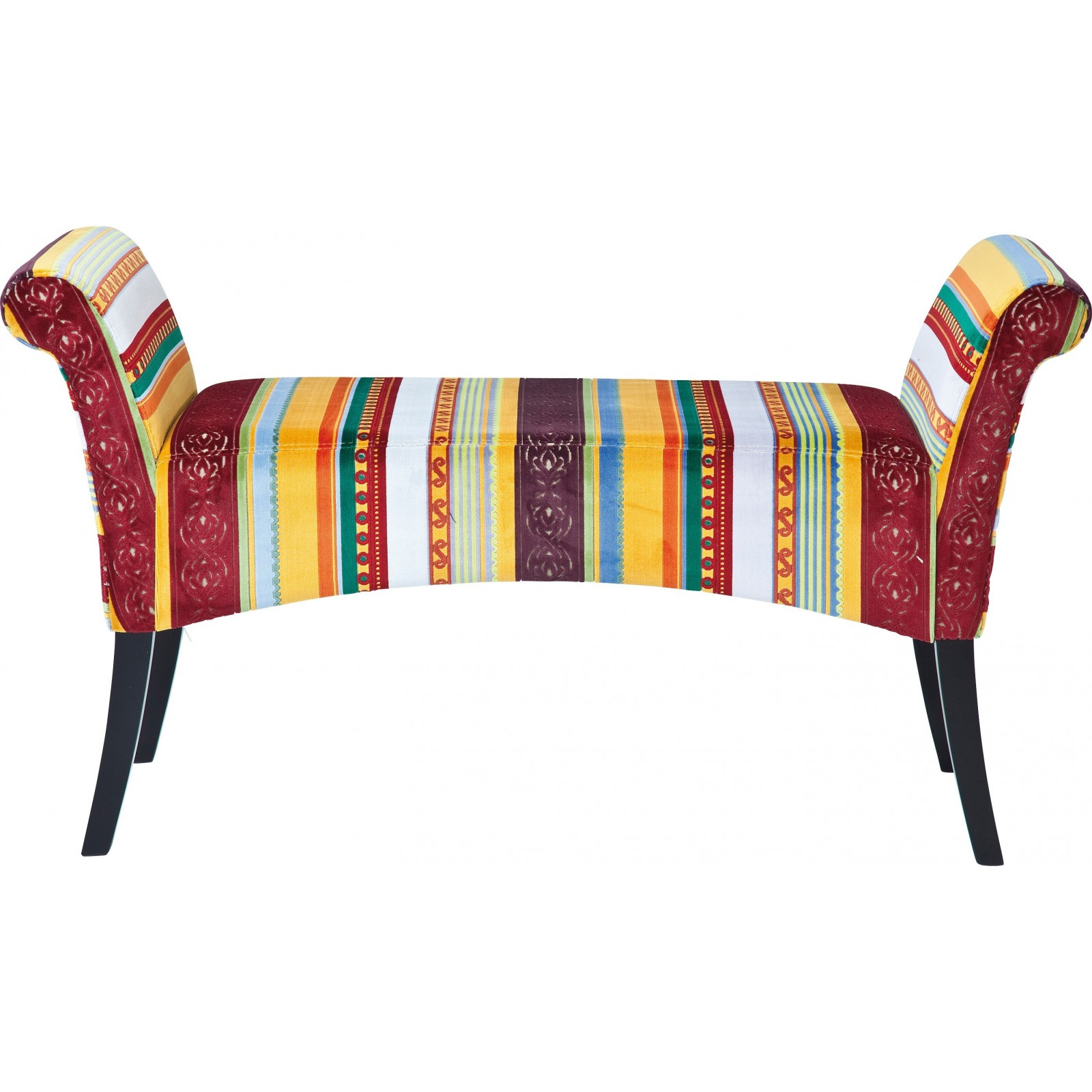 banc en tissu multicolore motley very british kare design. Black Bedroom Furniture Sets. Home Design Ideas