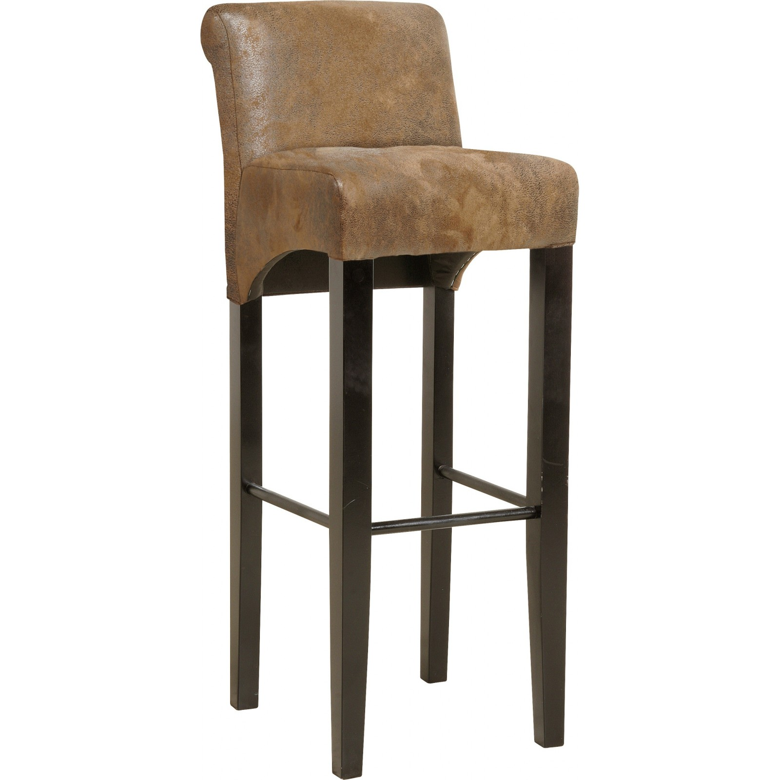 tabouret de bar vintage marron isis kare design. Black Bedroom Furniture Sets. Home Design Ideas