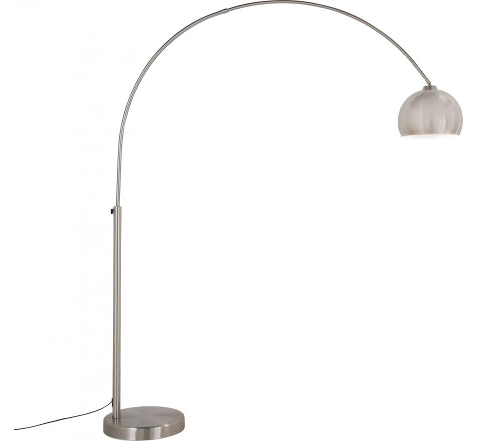 Lampadaire Lounge 175cm gris métallique Kare Design