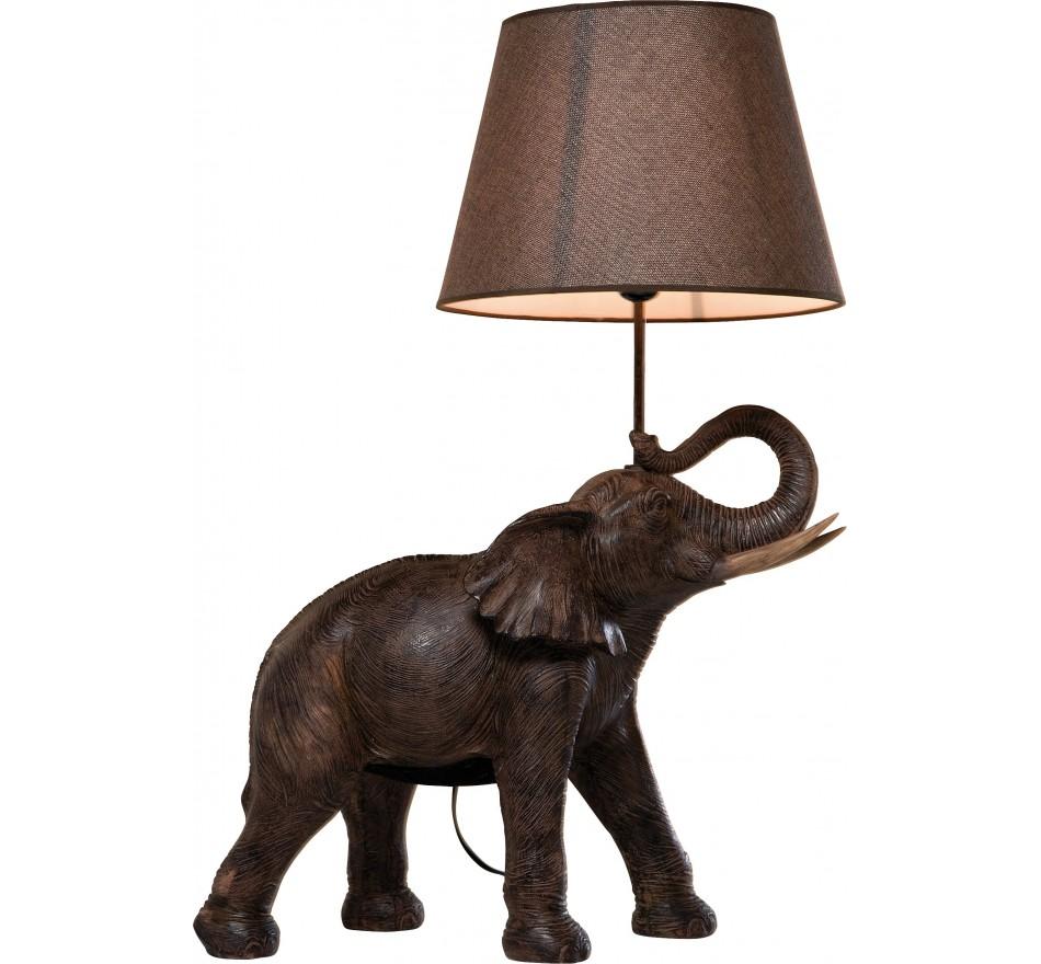 Lampe de table Éléphant marron Kare Design