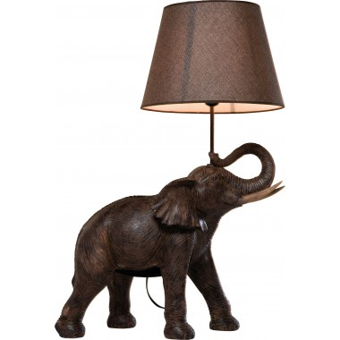 Lampe de table Éléphant marron Kare Design
