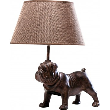 lampe de table chien marron mops kare design. Black Bedroom Furniture Sets. Home Design Ideas