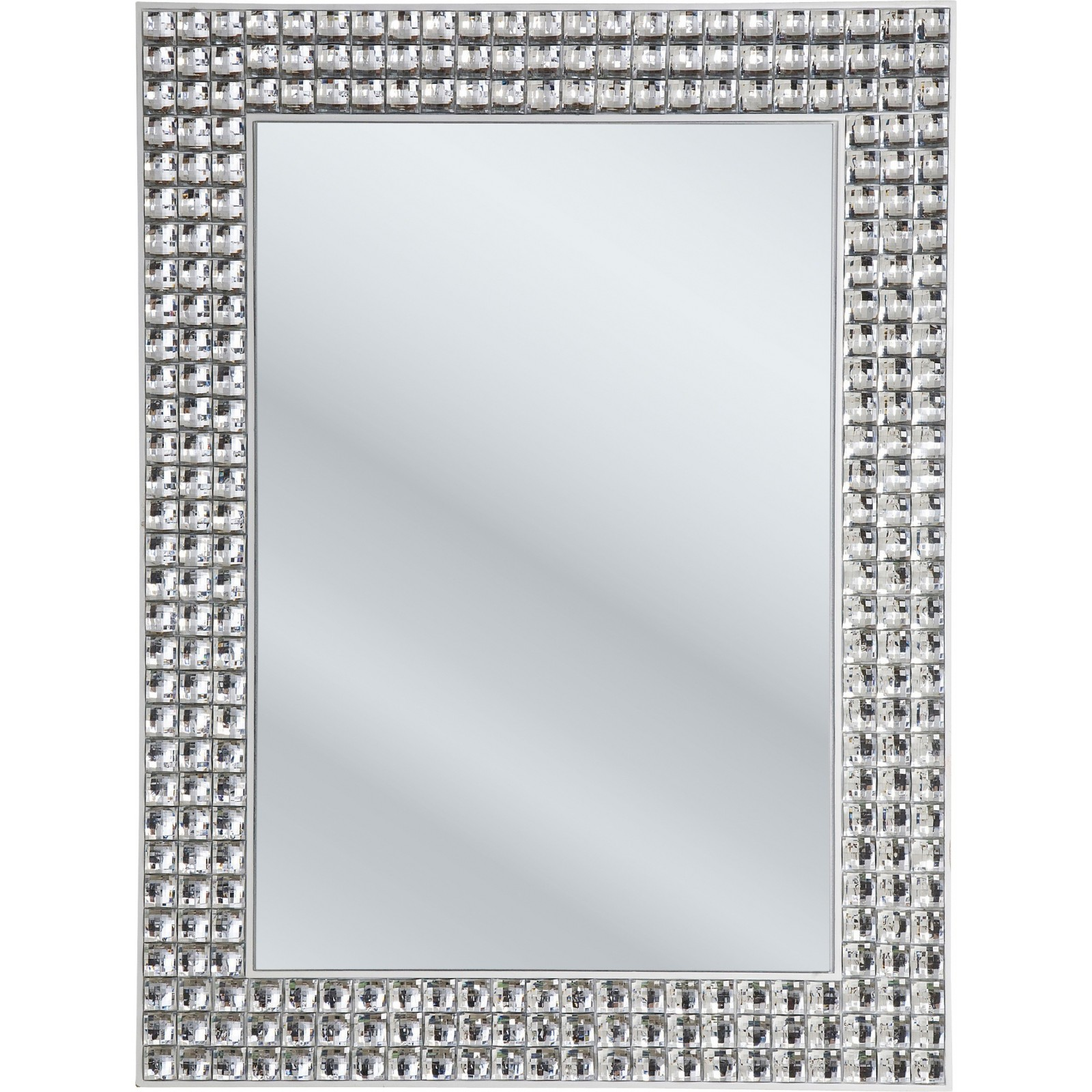 Miroir crystals 60 x 80 kare design for Miroir 50 x 60