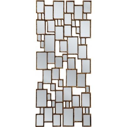 Miroir Cubes marron 132x54cm Kare Design