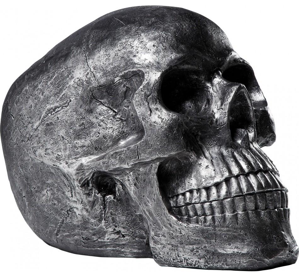 Deco Skull Head Antique Argent Kare Design