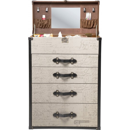 Commode coiffeuse Vintage 4 Tiroirs Kare Design