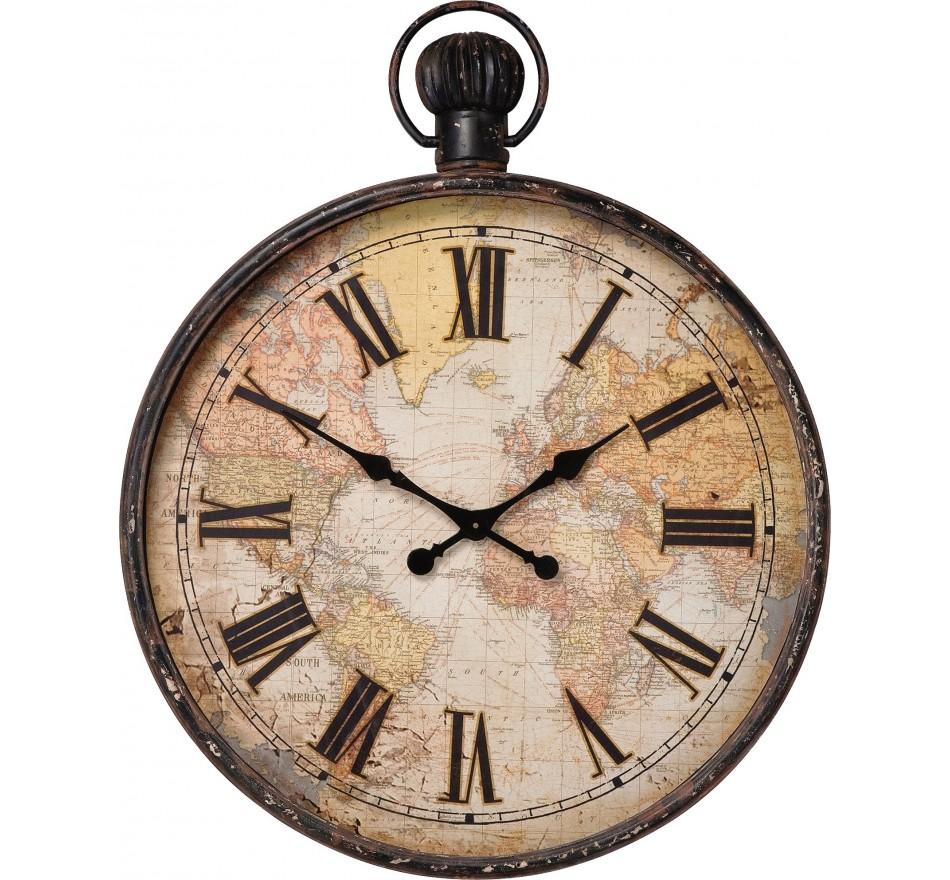 Horloge European Map 96cm Kare Design