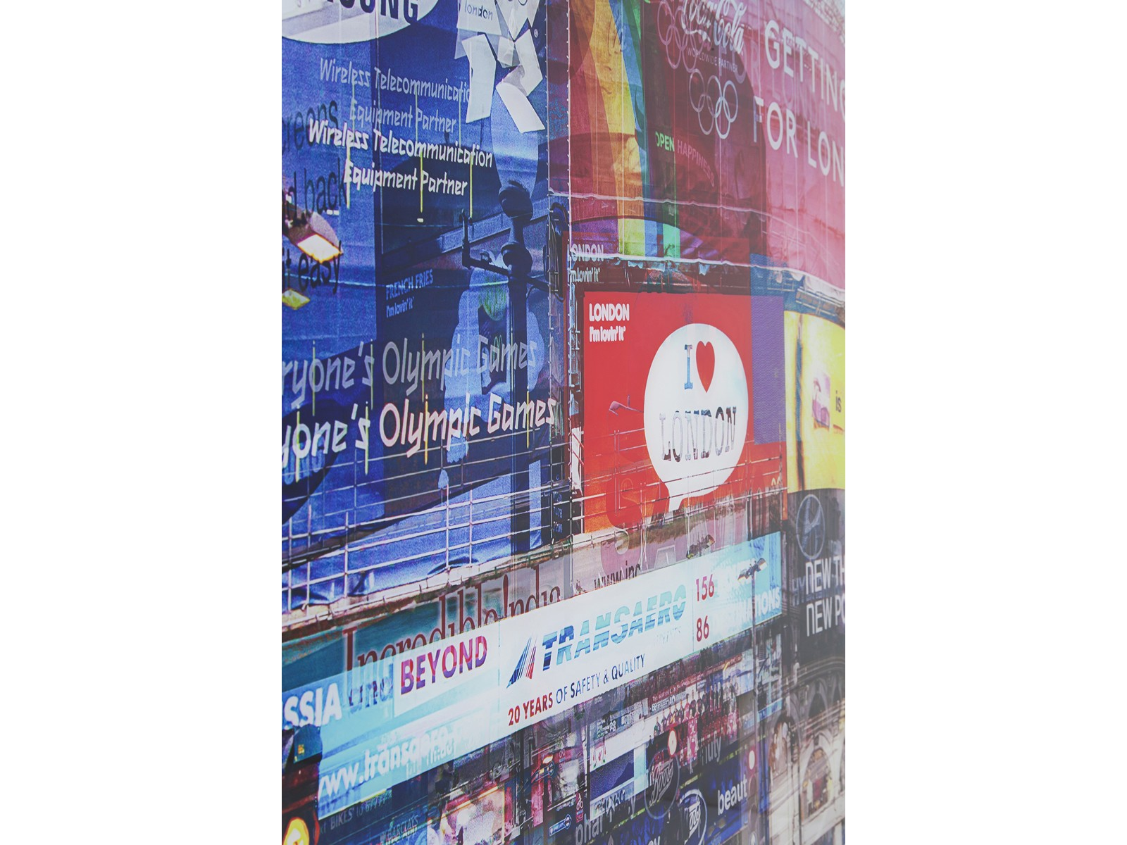 Tableau en Verre Piccadilly Circus 120x160cm Kare Design