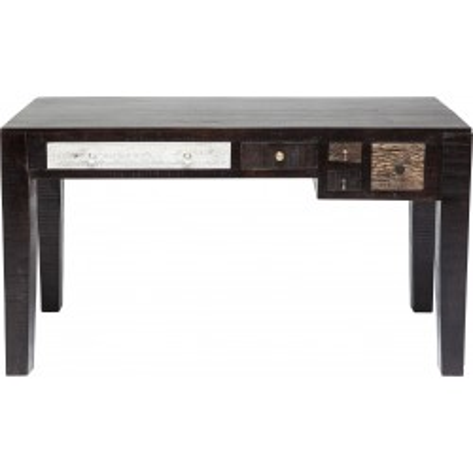 Bureau en bois Finca 5 tiroirs 135x60cm Kare Design