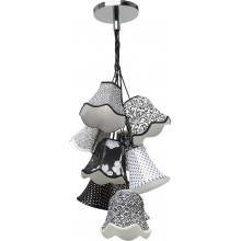 Suspension Saloon Ornament Noir & Blanc 9 Kare Design