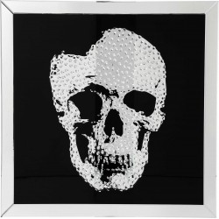 Tableau miroir Skull 100x100cm Kare Design