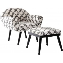 Fauteuil et Repose Pied Fjord County Kare Design