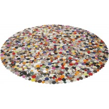 Tapis Circle Multi 250cm Kare Design
