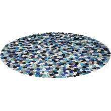 Tapis Circle multi bleu 250cm Kare Design