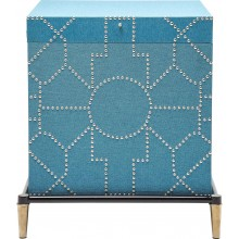 Table d'appoint Crackle bleue Kare Design