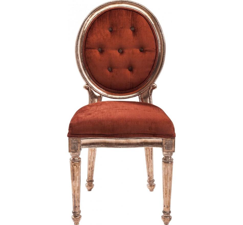 Chaise Louis rouge cuivré Kare Design
