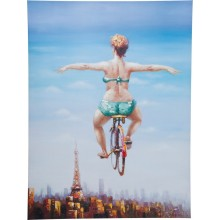 Tableau Touched Bicycle Girl 120x160 Kare Design