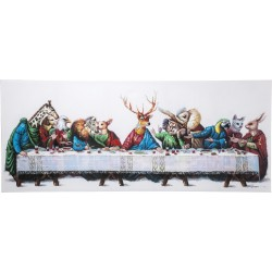Tableau Touched Last Supper 100x240 Kare Design