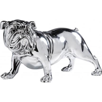 Déco Bulldog argent 22cm Kare Design