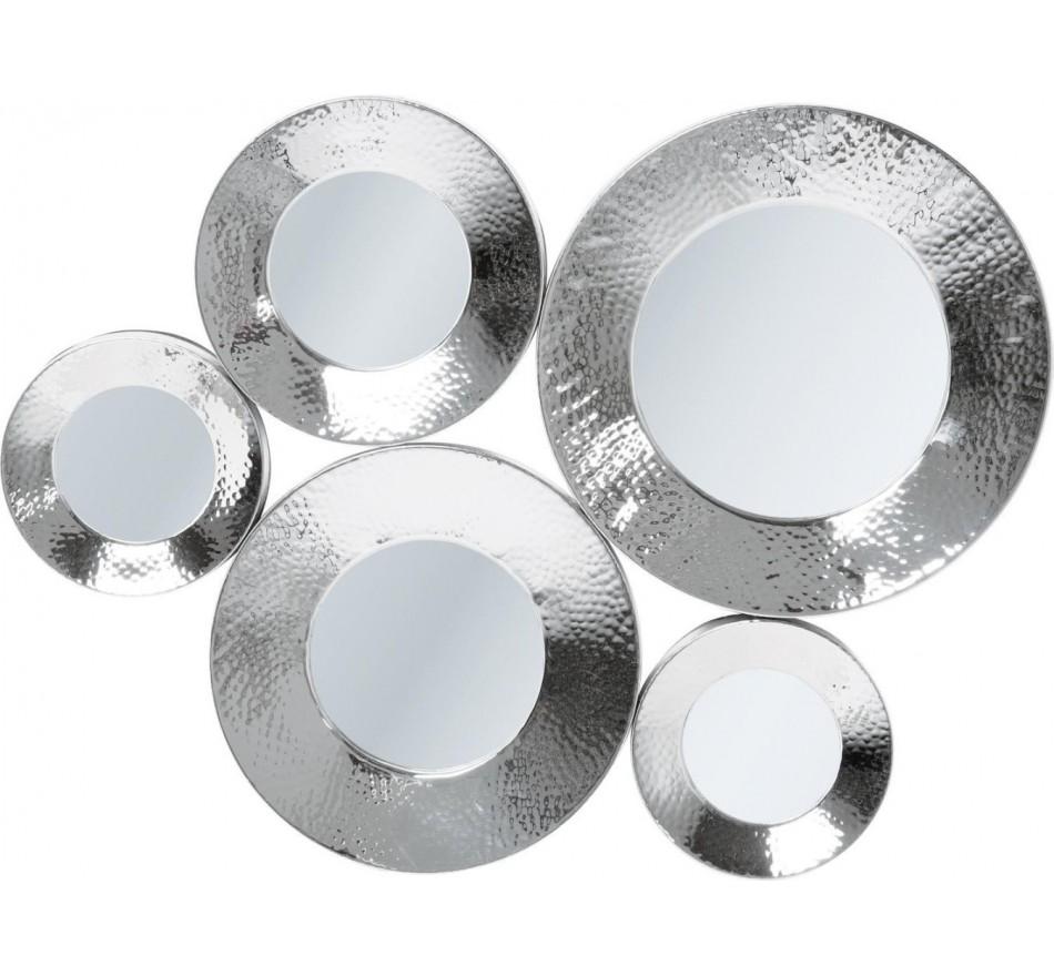 Miroir Circoli Cinque argenté 46x62 Kare Design