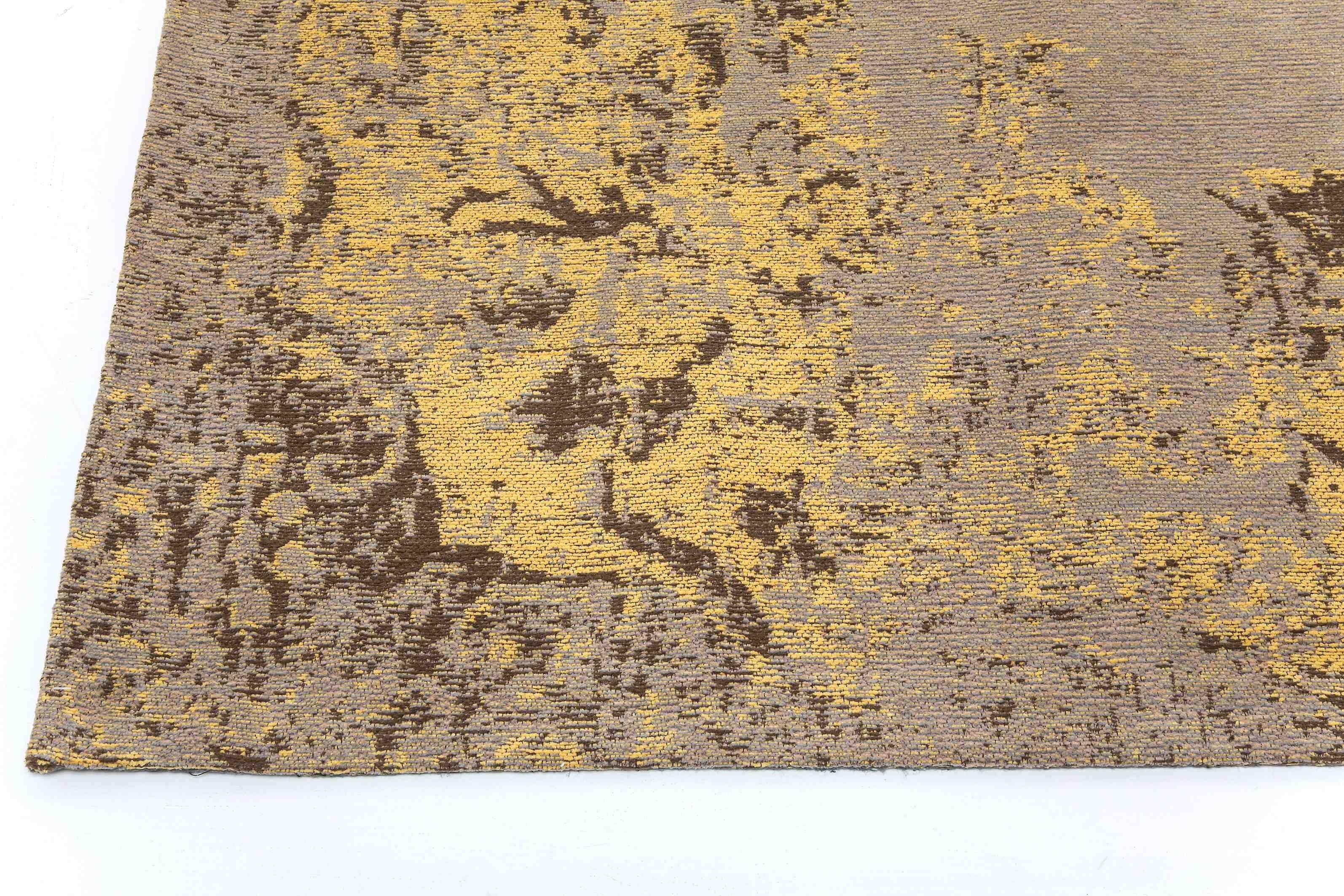 Tapis Kelim Pop jaune 240x170cm Kare Design