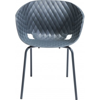 Fauteuil Radar Bubble anthracite Kare Design