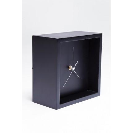 Horloge de table Pure Cube noire Kare Design