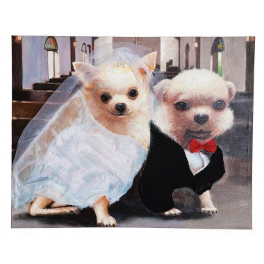 Tableau Wedding Dogs 80x100cm Kare Design