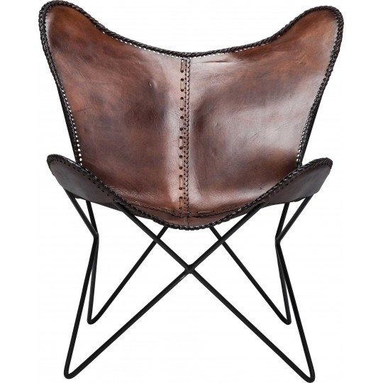 Fauteuil Butterfly marron eco Kare Design
