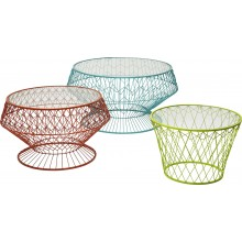 Tables d'appoint Wire Colore 3/Set Kare Design