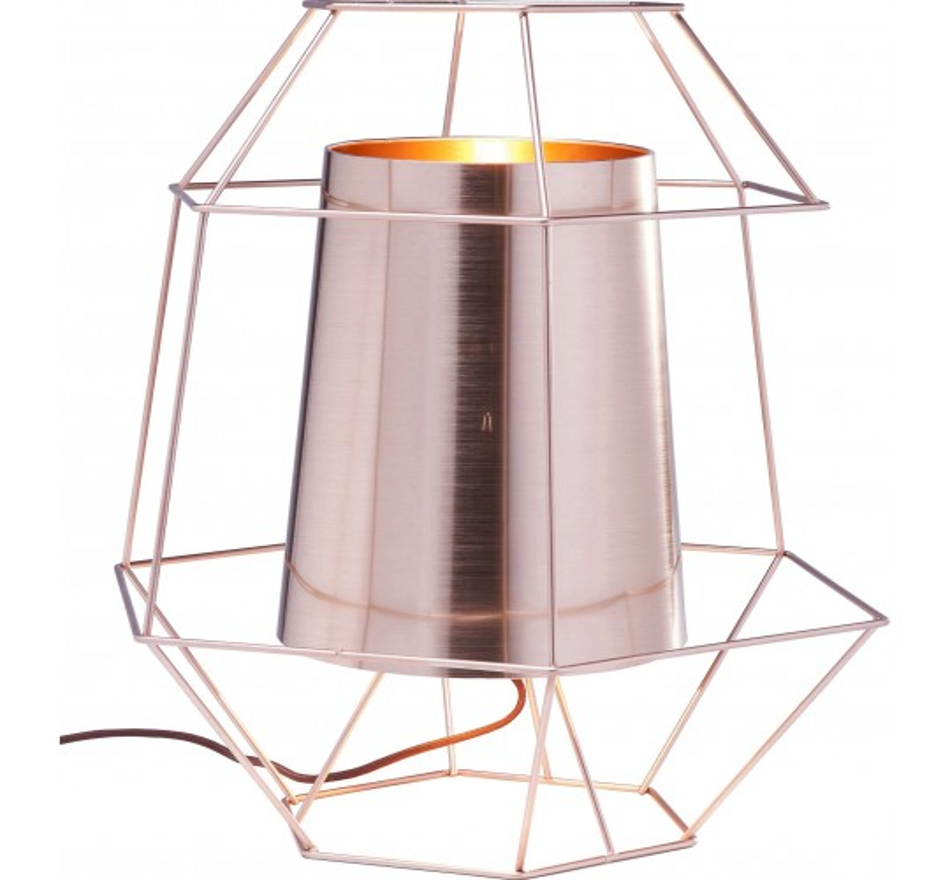 Lampe de table Wire cuivrée Kare Design