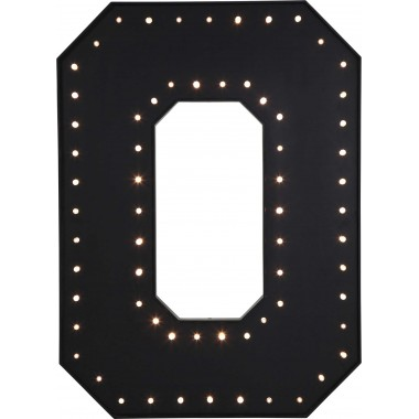 Applique O noir LED Kare Design